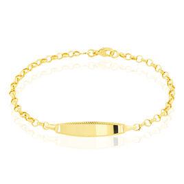 Bracelet Identité Marcel Maille Jaseron Or Jaune - Bracelets Communion Enfant | Histoire d'Or