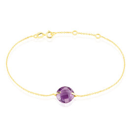 Bracelet Ludmille Or Jaune Amethyste - Bijoux Femme | Histoire d'Or