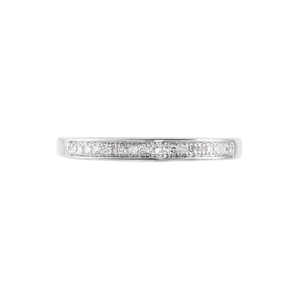 Alliance Divya Or Blanc Diamant - Alliances Femme | Histoire d'Or