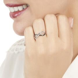 Bague Rejane Or Blanc Diamant - Bagues Infini Femme | Histoire d'Or