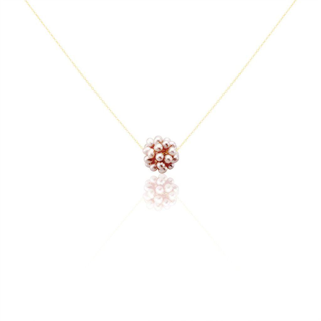 Collier Flocon Or Jaune Perles De Culture - Bijoux Femme | Histoire d'Or