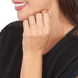 Bague Kadja Or Rose Oxyde De Zirconium - Bagues avec pierre Femme | Histoire d'Or