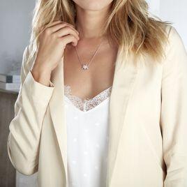Collier Argent Rhodie Gweltaz Oxydes De Zirconium - Colliers fantaisie Femme   Histoire d'Or