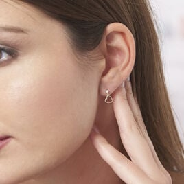 Boucles D'oreilles Pendantes Daria Cœur Or Jaune - Boucles d'Oreilles Coeur Femme   Histoire d'Or