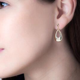 Boucles D'oreilles Puces Nirmala Or Jaune Diamant - Boucles d'oreilles pendantes Femme   Histoire d'Or