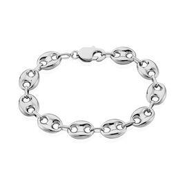 Bracelet Argent Maille Grain De Café - Bracelets chaîne Homme | Histoire d'Or
