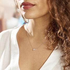Collier Argent Rhodie Florencio Oxydes De Zirconium - Colliers fantaisie Femme   Histoire d'Or