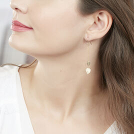 Boucles D'oreilles Pendantes Siobhan Or Jaune - Boucles d'Oreilles Plume Femme | Histoire d'Or