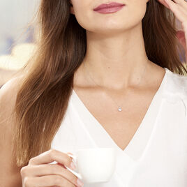 Collier Purete Or Blanc Diamant - Bijoux Femme | Histoire d'Or