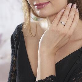 Bague Iolende Argent Blanc Oxyde De Zirconium - Bagues Plume Femme   Histoire d'Or