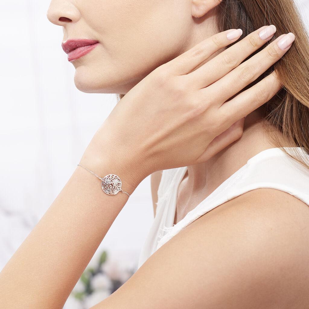 Bracelet Jardin D'ete Argent Blanc - Bracelets fantaisie Femme | Histoire d'Or