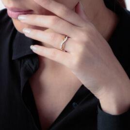 Bague Mounira Or Jaune Oxyde De Zirconium - Bagues avec pierre Femme   Histoire d'Or