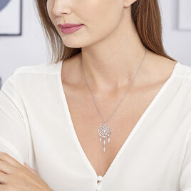 Collier Enola Argent Blanc - Colliers Plume Femme | Histoire d'Or