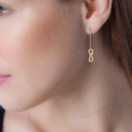 Boucles D'oreilles Pendantes Marie-augusta Plaque Or Oxyde - Boucles d'Oreilles Infini Femme | Histoire d'Or