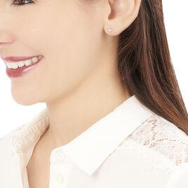 Boucles D'oreilles Puces Danilana Or Blanc Diamant - Boucles d'Oreilles Etoile Femme | Histoire d'Or