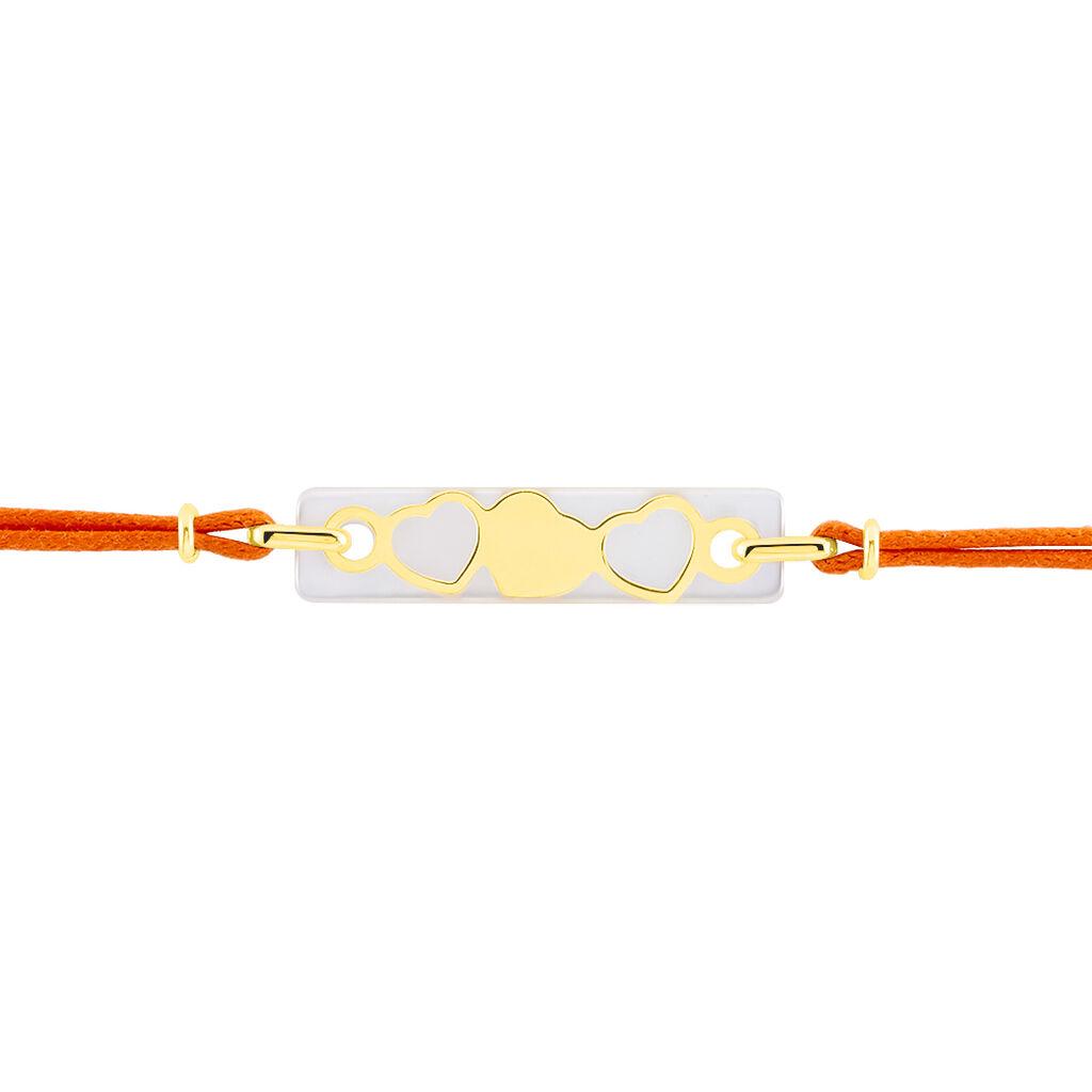 Bracelet Endza Or Jaune Nacre - Bracelets Coeur Femme   Histoire d'Or