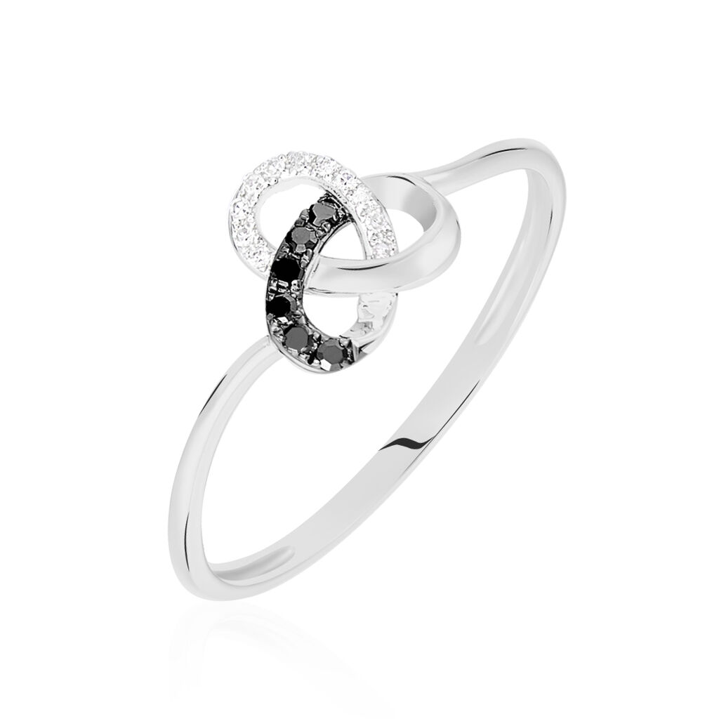 Bague Constellation Or Blanc Diamant