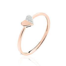 Bague Emilia Or Rose Et Diamants - Bagues Coeur Femme | Histoire d'Or
