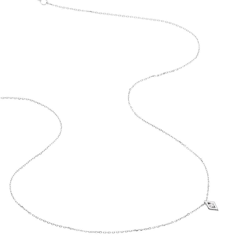 Collier Eirena Or Blanc Diamant - Bijoux Femme   Histoire d'Or