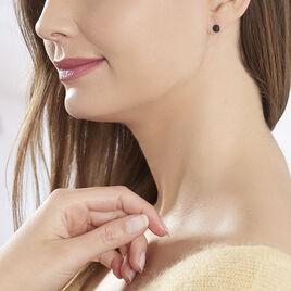 Boucles D'oreilles Puces Colline Argent Rose Oxyde De Zirconium - Boucles d'oreilles fantaisie Femme   Histoire d'Or