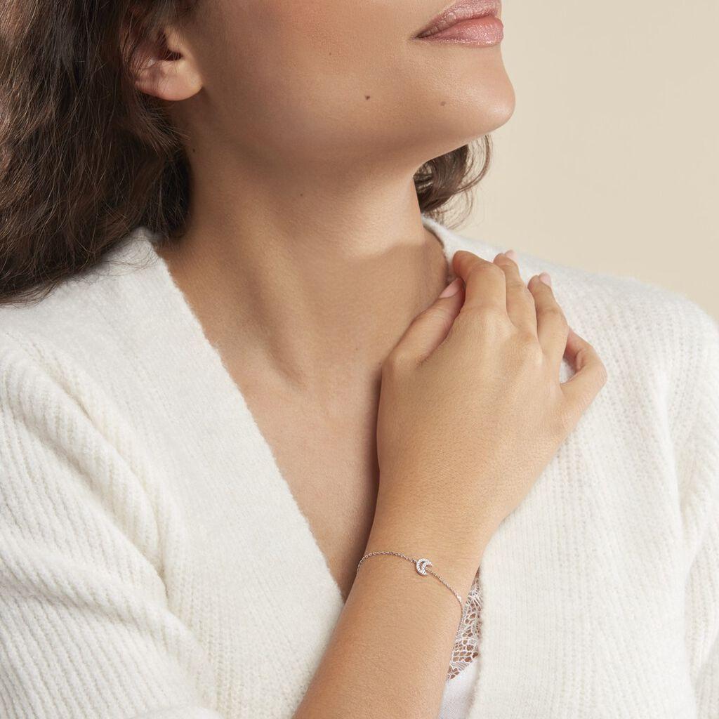 Bracelet Philine Argent Blanc Oxyde De Zirconium - Bracelets Lune Femme | Histoire d'Or