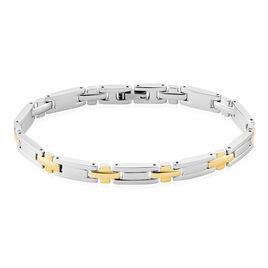 Bracelet Acier Plaque Or - Bijoux Homme | Histoire d'Or