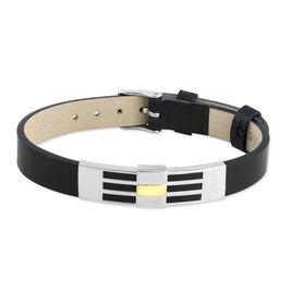 Bracelet Komalae Or Acier Bicolore - Bracelets fantaisie Homme | Histoire d'Or