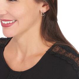 Boucles D'oreilles Pendantes Safwa Or Bicolore Diamant - Boucles d'oreilles pendantes Femme | Histoire d'Or