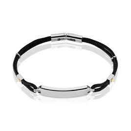 Bracelet Identité Chantal Acier Blanc - Bracelets cordon Homme   Histoire d'Or