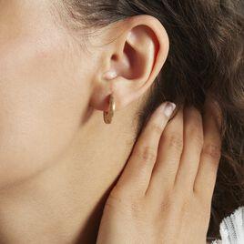Creoles Plaqué Or Jaune Swein - Boucles d'oreilles créoles Femme | Histoire d'Or