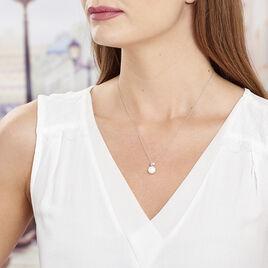 Collier Lorella Argent Blanc Perle De Culture - Colliers Coeur Femme | Histoire d'Or