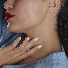 Boucles D'oreilles Puces Fidelia Boule Or Jaune Boules Cristal - Clous d'oreilles Femme   Histoire d'Or