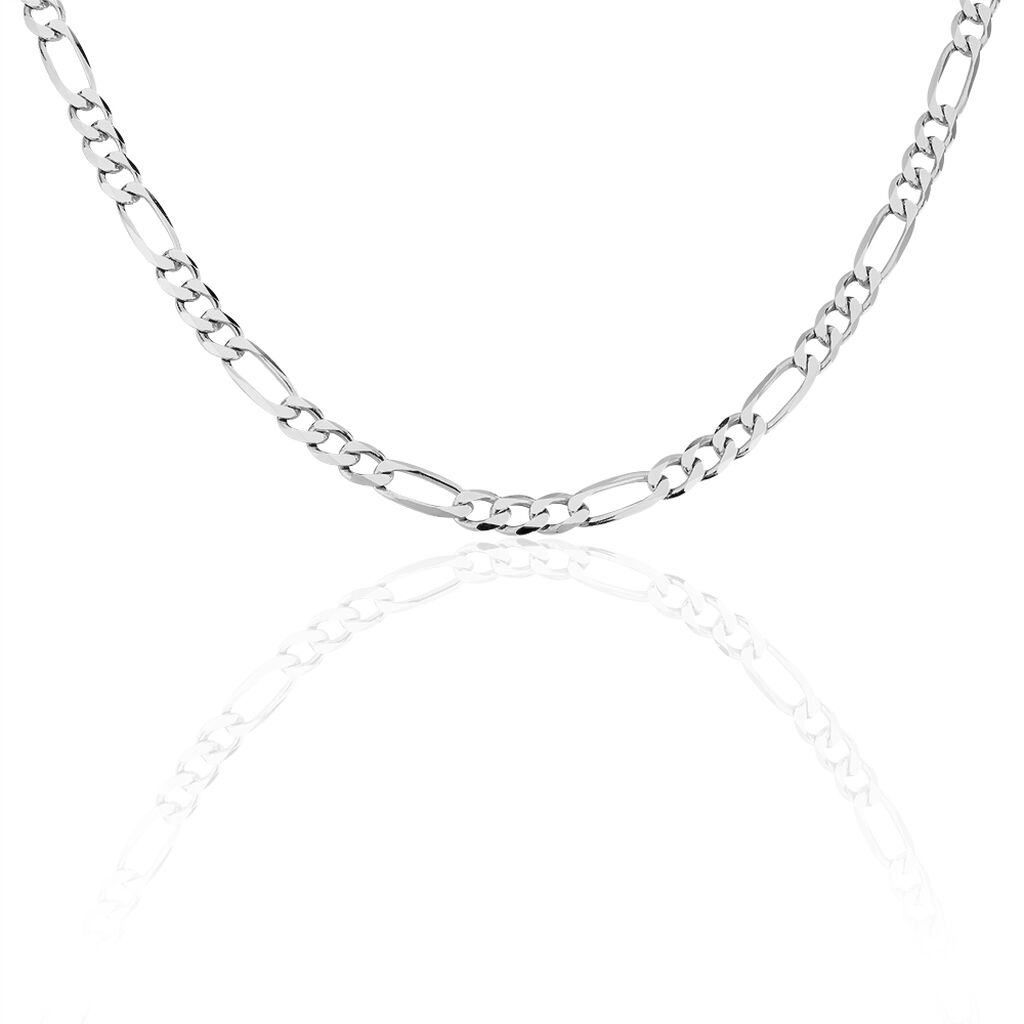 Chaine Maille Alternée 1/3 Argent Blanc - Chaines Homme | Histoire d'Or