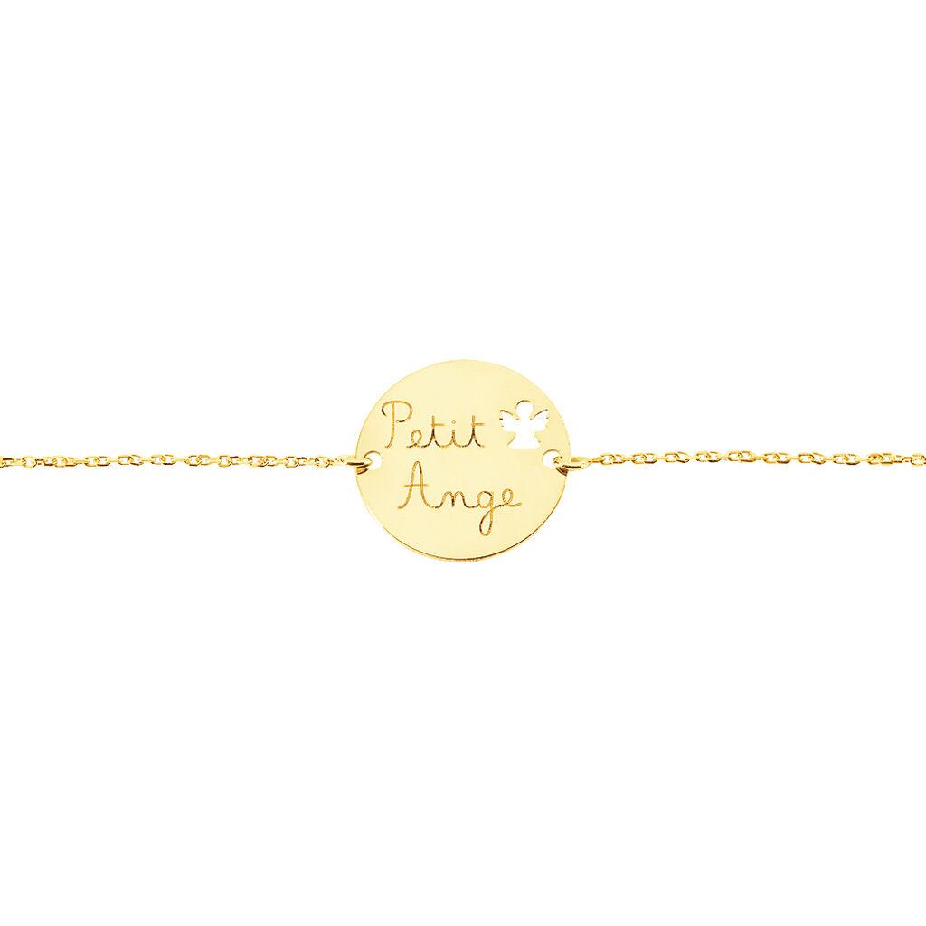 Bracelet Benedicte Message Or Jaune - Bracelets Baptême Enfant | Histoire d'Or
