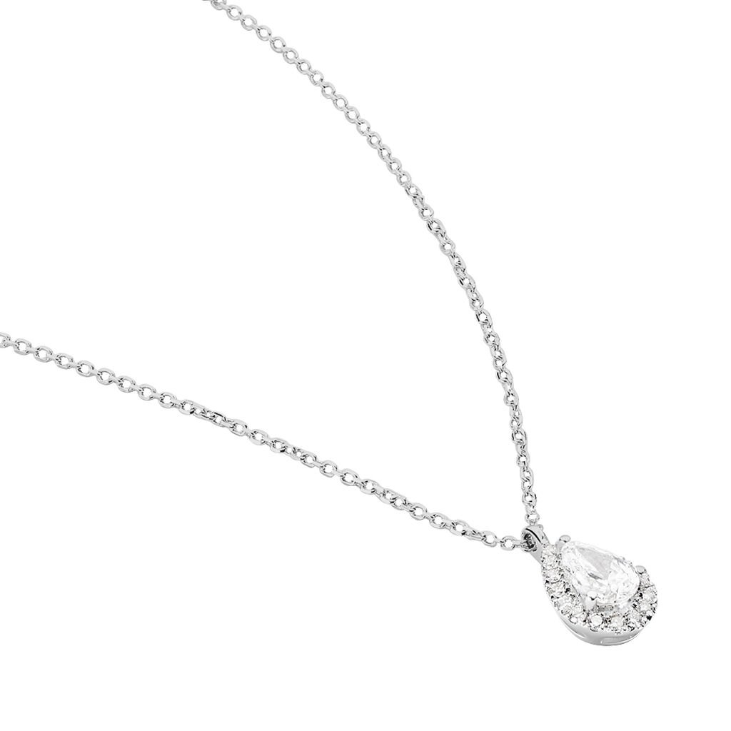Collier Georgina Or Blanc Diamant