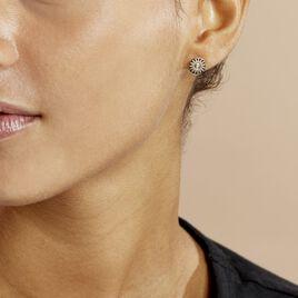 Boucles D'oreilles Puces Artea Plaque Or Jaune Oxyde De Zirconium - Boucles d'oreilles fantaisie Femme   Histoire d'Or