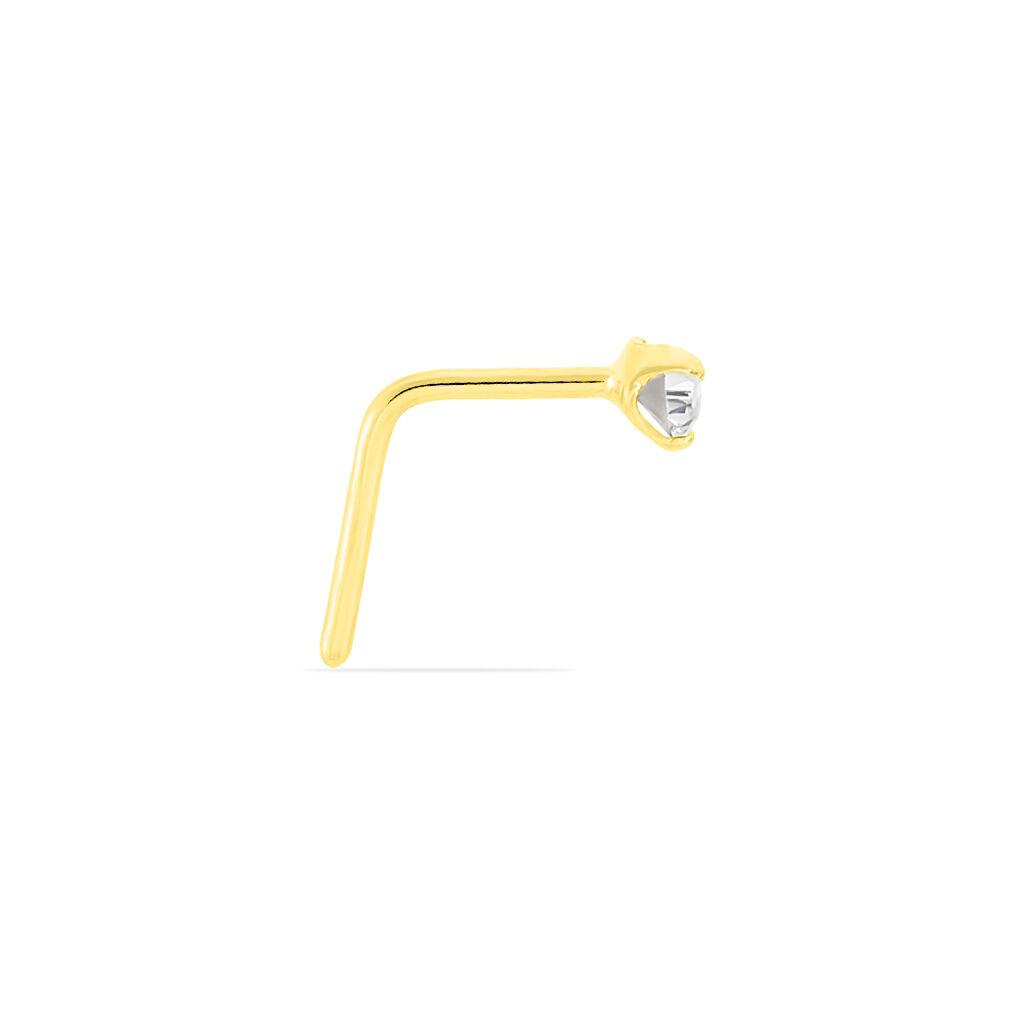 Piercing De Nez Fethi Serti Griffe Or Jaune Oxyde De Zirconium - Bijoux Femme | Histoire d'Or