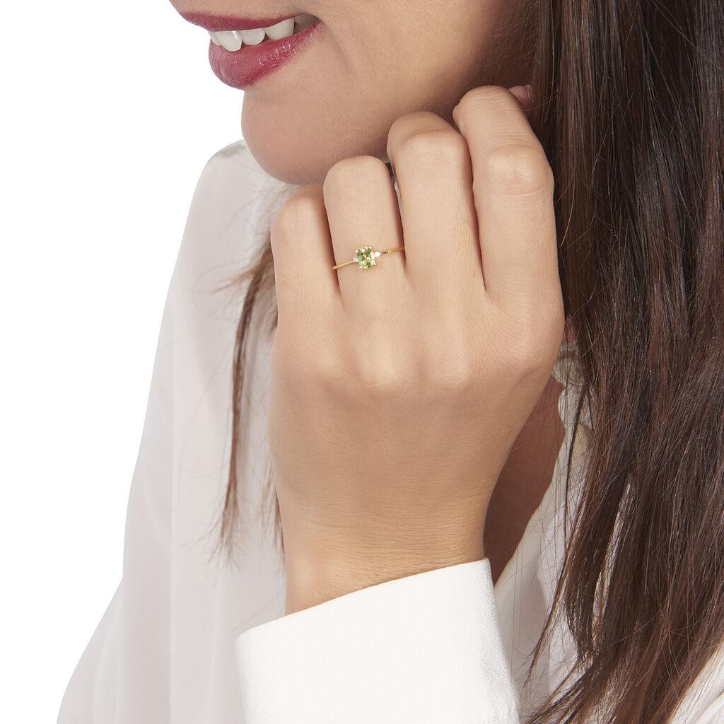 Bague Janah Or Jaune Péridot Et Oxyde De Zirconium - Bagues avec pierre Femme | Histoire d'Or