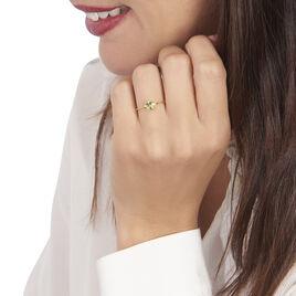 Bague Janah Or Jaune Péridot Et Oxyde De Zirconium - Bagues avec pierre Femme   Histoire d'Or