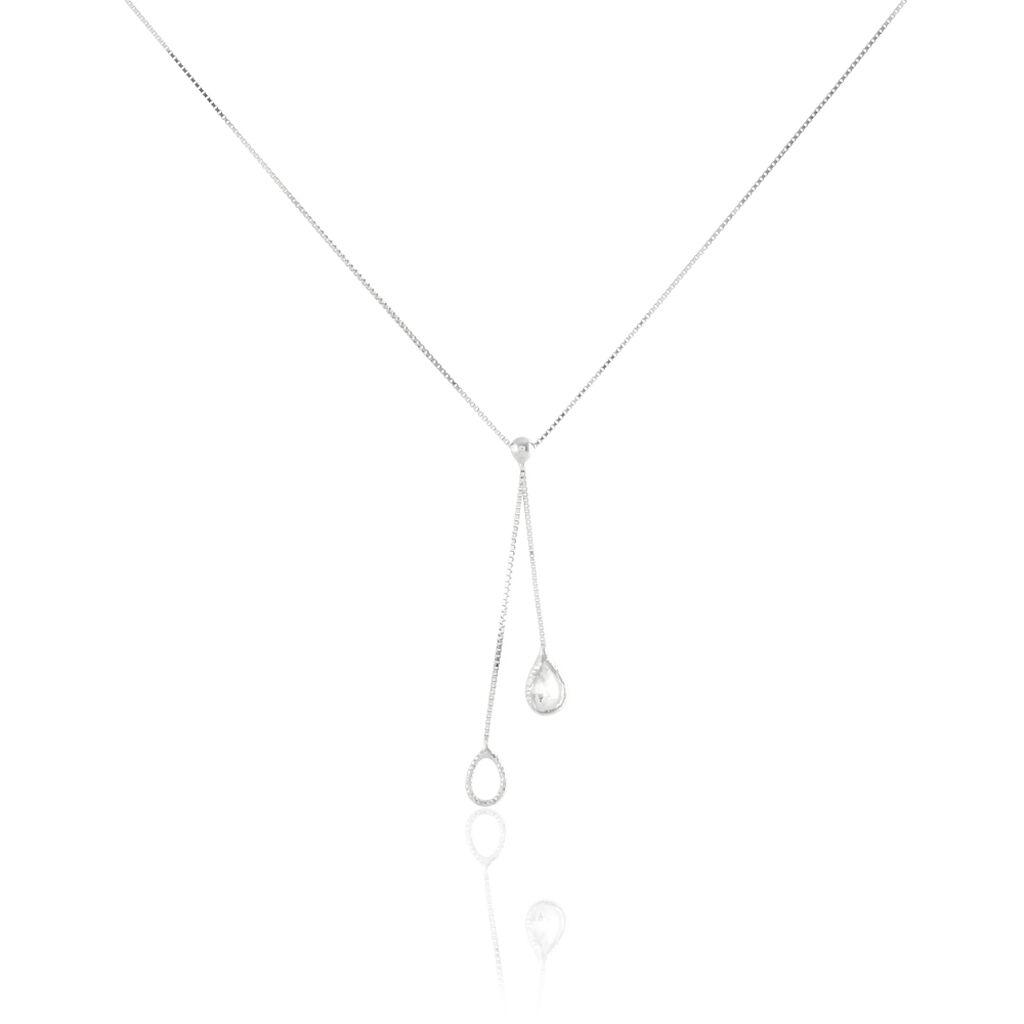 Collier Hagere Or Blanc Oxyde De Zirconium - Bijoux Femme   Histoire d'Or