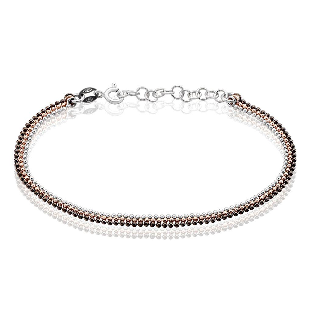 Bracelet Gabriela Argent Tricolore - Bracelets fantaisie Femme   Histoire d'Or