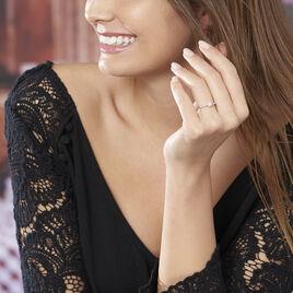 Bague Solitaire Laetitia Or Blanc Diamant - Bagues avec pierre Femme   Histoire d'Or
