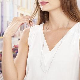 Collier Sautoir Euriell Argent Blanc - Colliers Plume Femme | Histoire d'Or