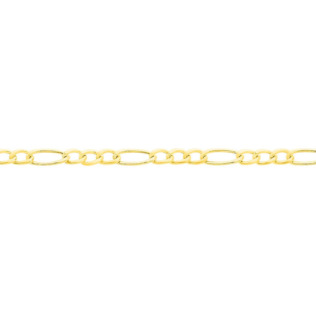Bracelet Esra Maille Alternee 1/3 Or Jaune - Bracelets Naissance Enfant | Histoire d'Or