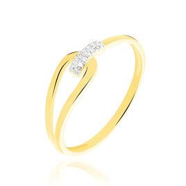 Bague Cyranna Or Jaune Diamant - Bagues avec pierre Femme | Histoire d'Or