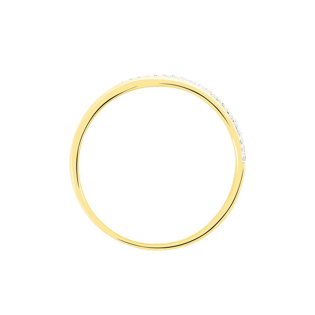 Bague Xenia Or Jaune Diamant - Bagues avec pierre Femme   Histoire d'Or