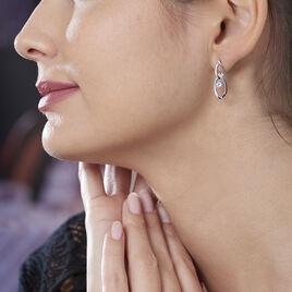 Boucles D'oreilles Pendantes Bernetta Argent Blanc Oxyde De Zirconium - Boucles d'oreilles fantaisie Femme | Histoire d'Or