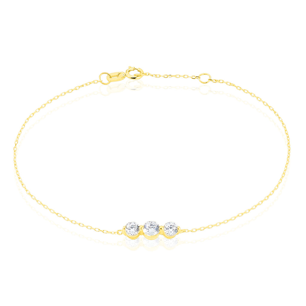 Bracelet Rosie Or Jaune Oxyde De Zirconium - Bijoux Femme | Histoire d'Or