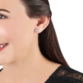Bijoux D'oreilles Edma Or Blanc Oxyde De Zirconium - Ear cuffs Femme   Histoire d'Or