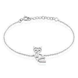 Bracelet Junien Argent Blanc Oxyde De Zirconium - Bracelets fantaisie Femme   Histoire d'Or